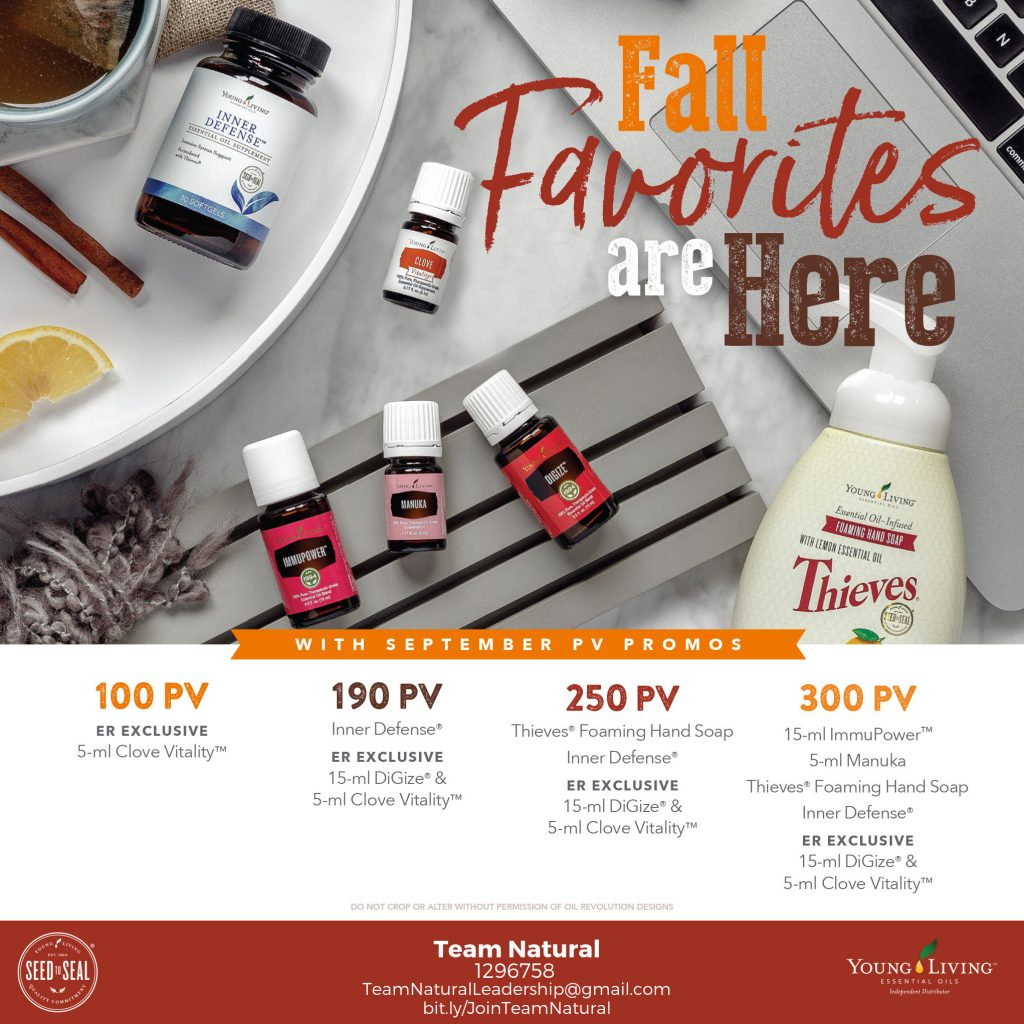 young living September monthly promotions